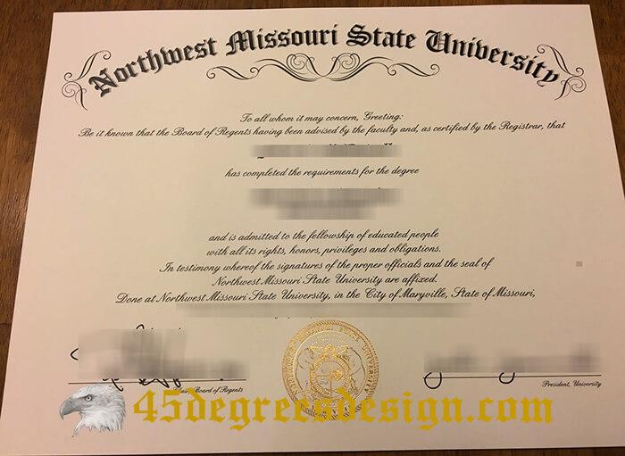 Northwest Missouri State University diploma