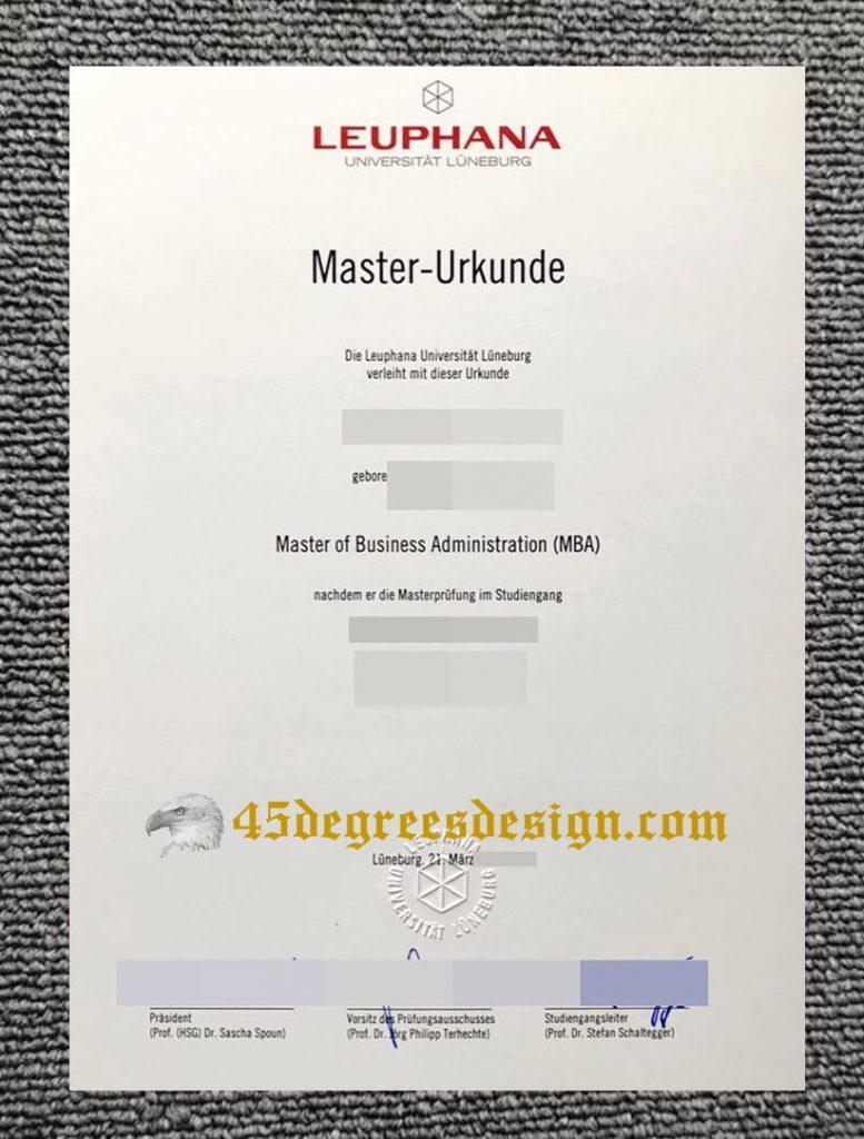 Leuphana University of Lüneburg diploma