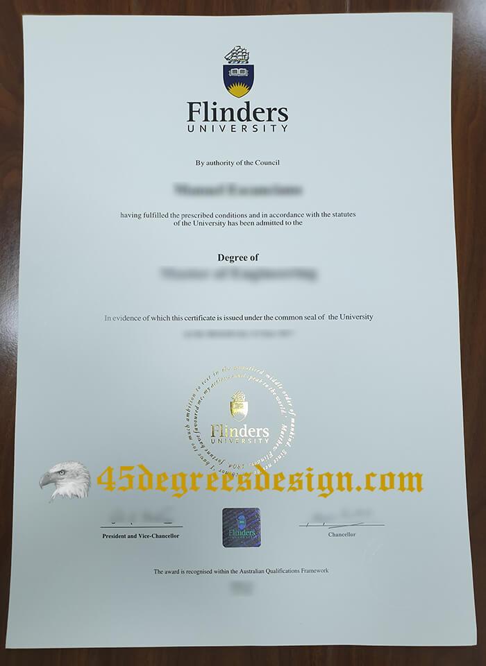 Flinders University New Version Diploma