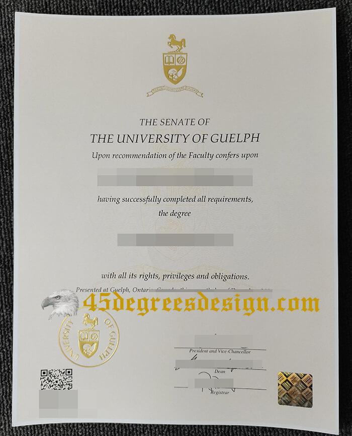 fake University of Guelph degree for 2021