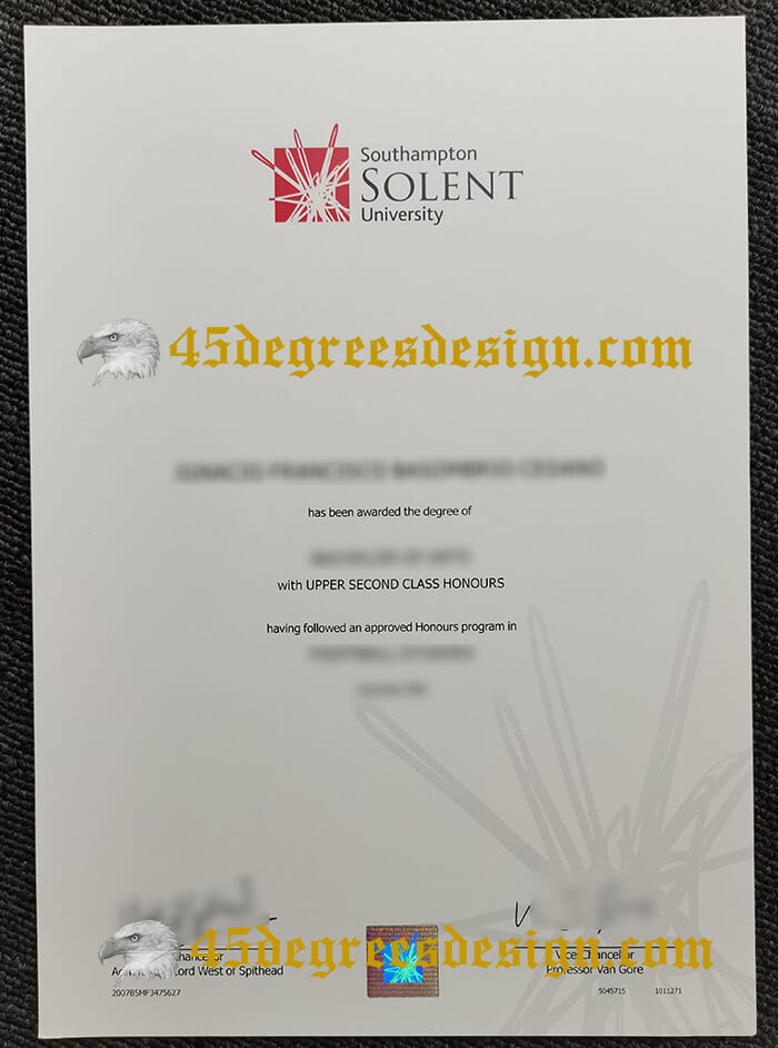 Southampton Solent University degree