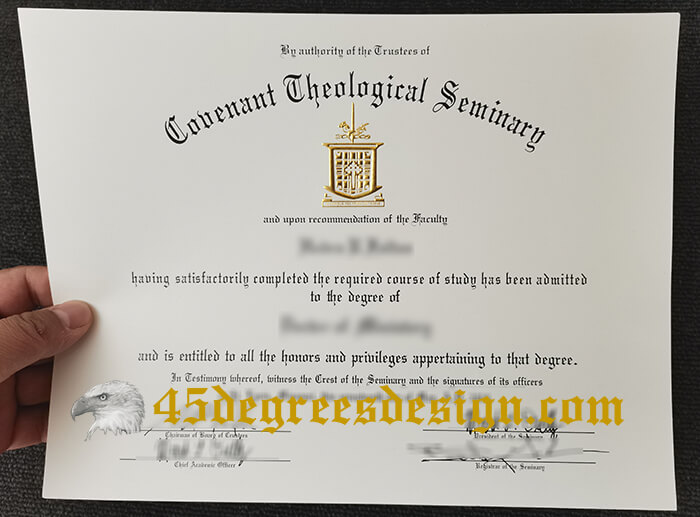 Covenant Theological Seminary diploma