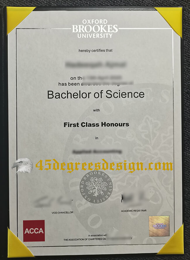 Oxford Brookes University Bachelor of Science degree