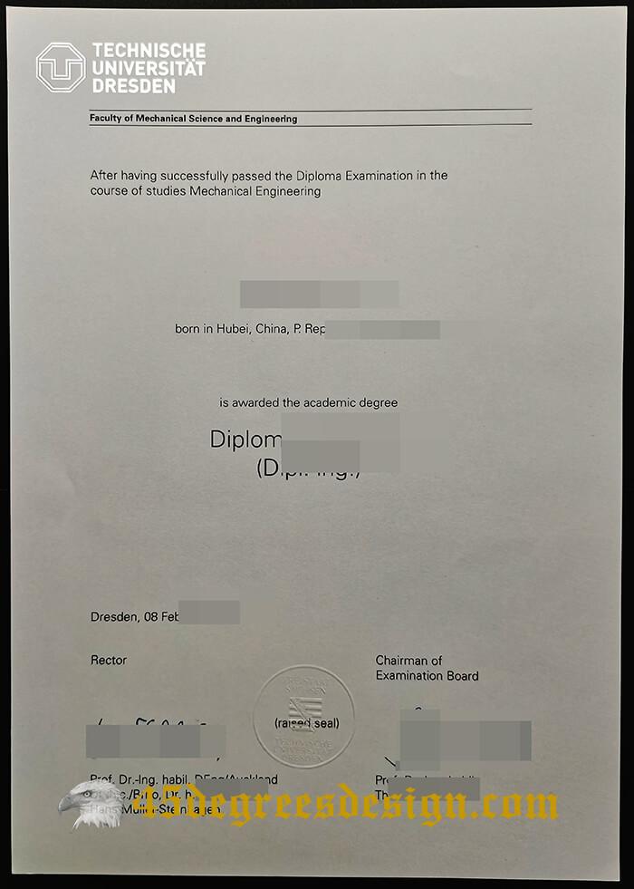 Technische Universität Dresden diploma