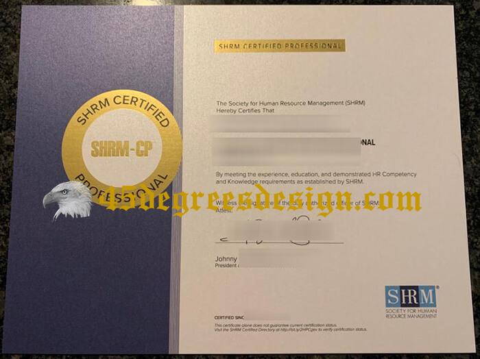 SHRM certificae