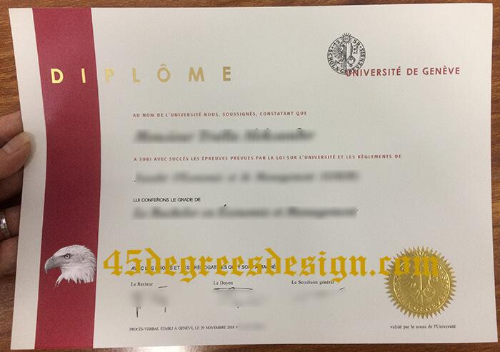 Buy Université de Genève bachelor degree
