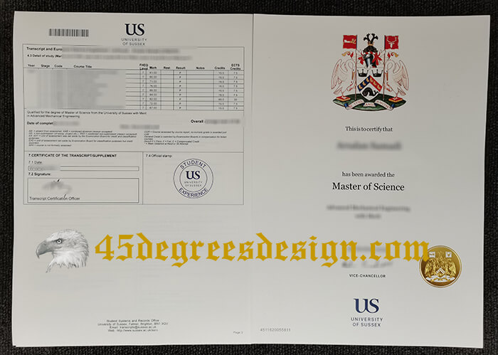 University of Sussex Master of Science degree