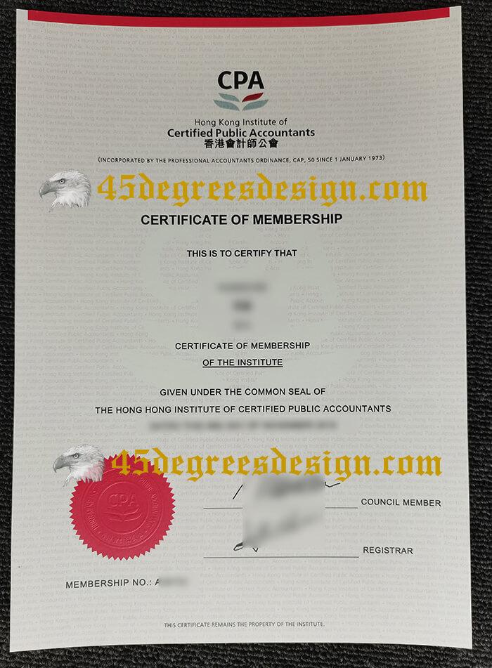 HKICPA Certificate of Membership