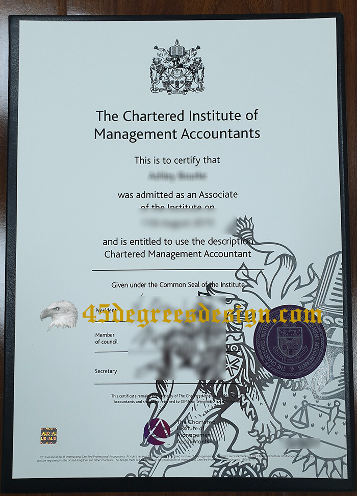 Chartered Institute of Management Accountants (CIMA) certificate