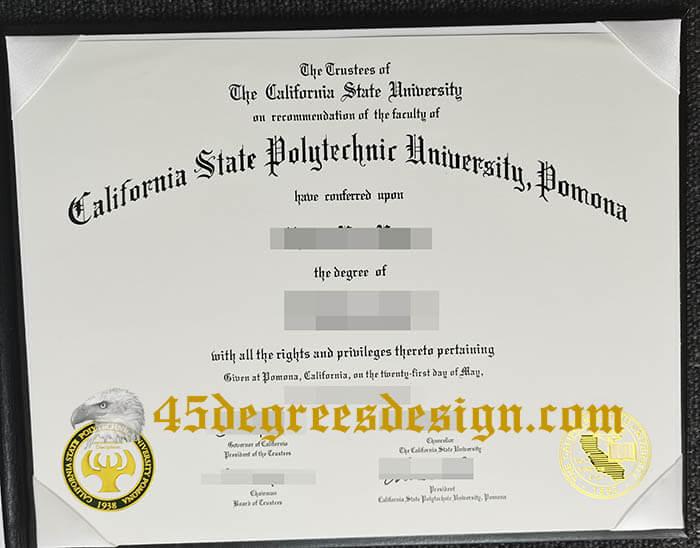 California State Polytechnic University, Pomona diploma