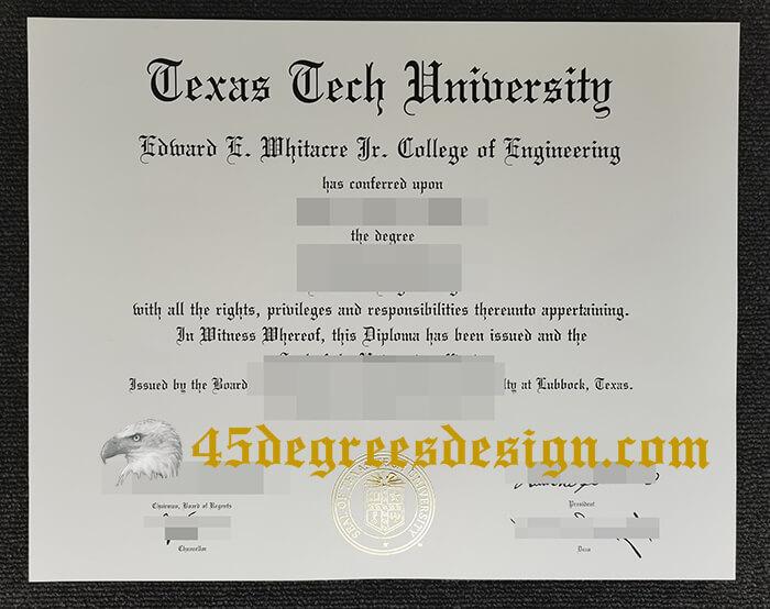 Texas Tech University Diploma