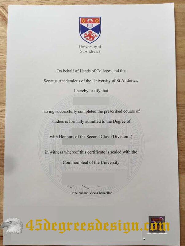 University of St Andrews degree