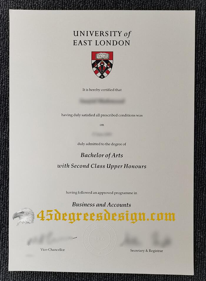 Buy Fake University Of East London Bachelor Of Arts Degree