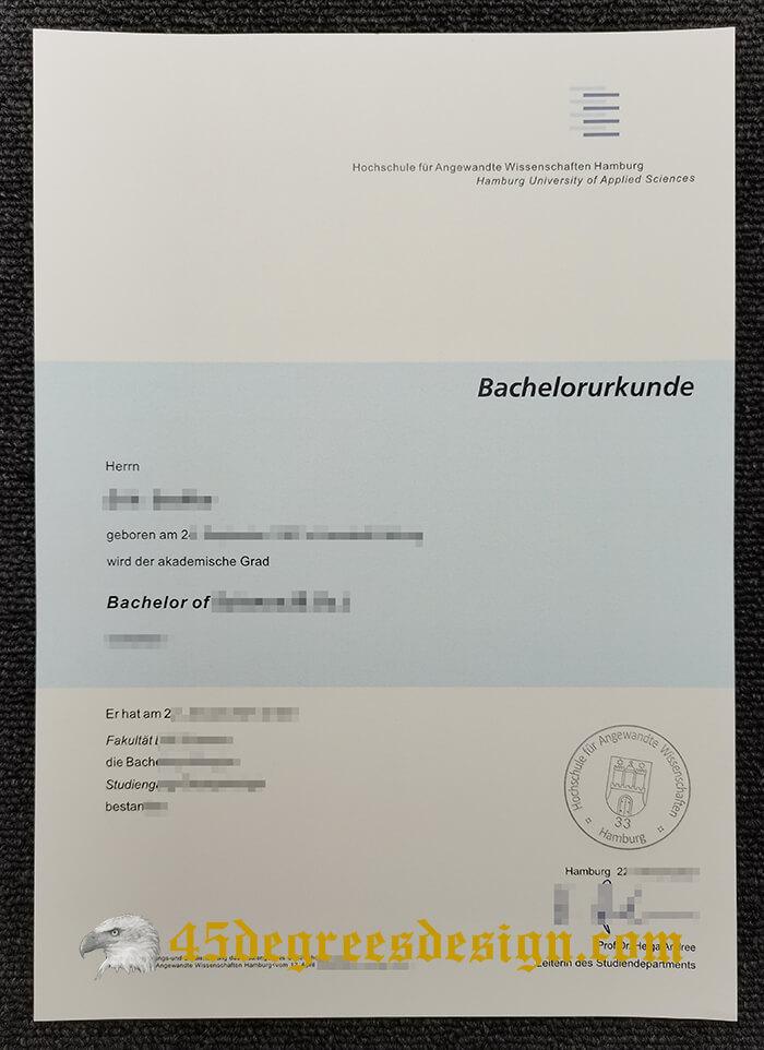 Hamburg University of Applied Sciences diploma