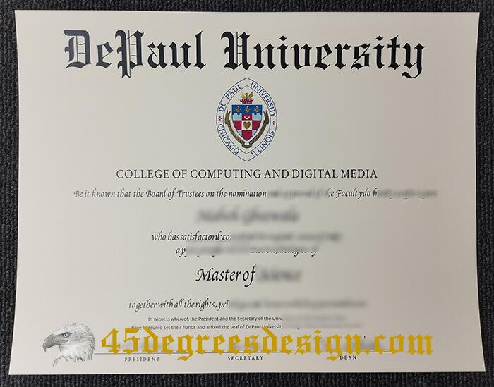 DePaul University Master of Science degree