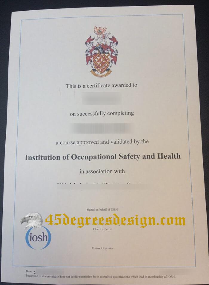 IOSH certificate, Buy certificate