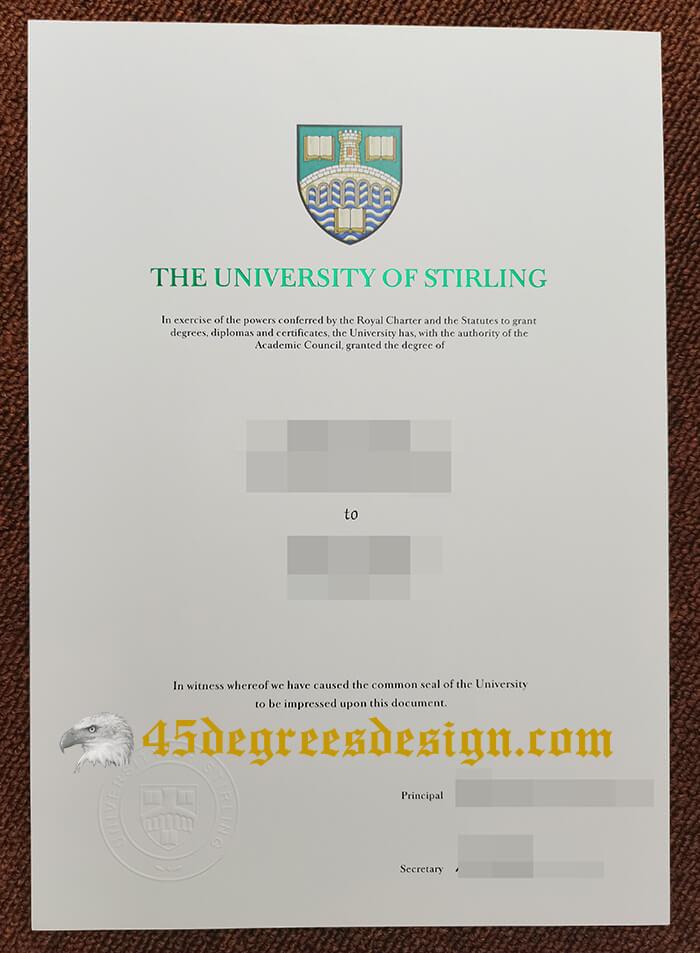 University of Stirling degree