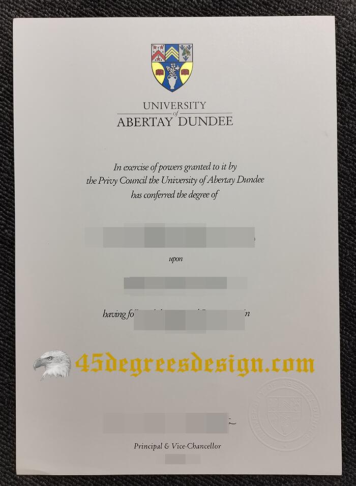 University of Abertay Dundee degree