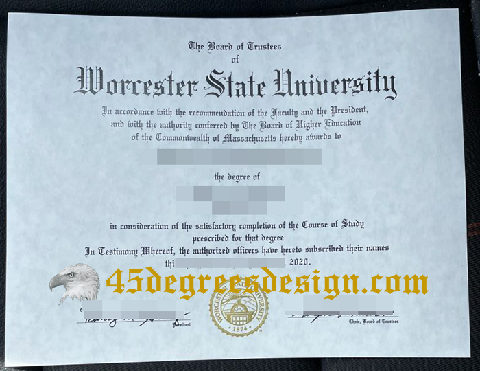 Worcester State University diploma