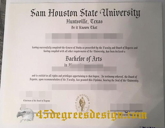 SHSU diploma