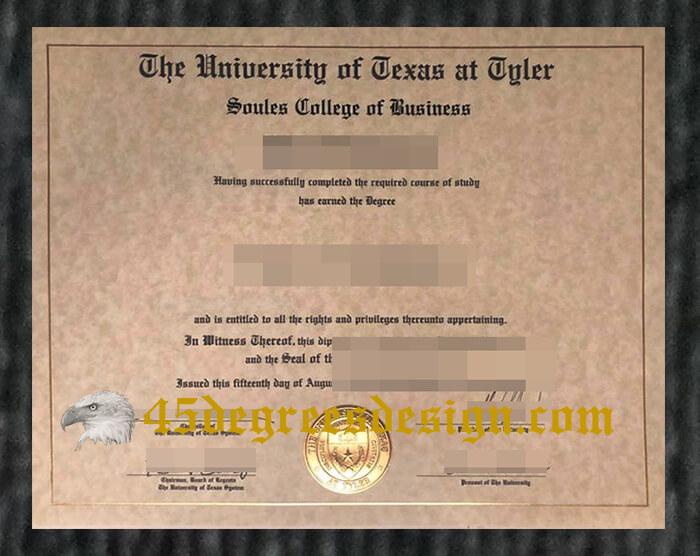 University of Texas at Tyler diploma