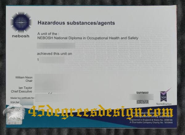 NEBOSH Diploma unit certificate