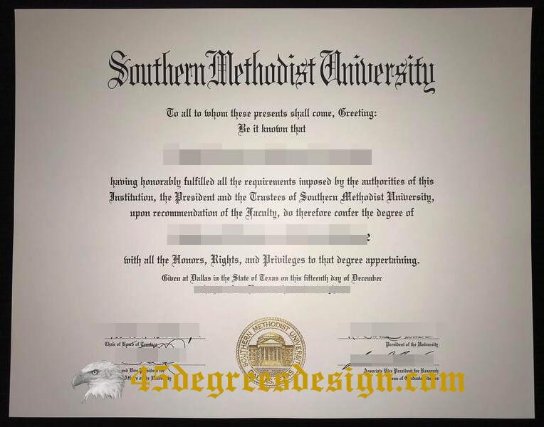 Southern Methodist University diploma
