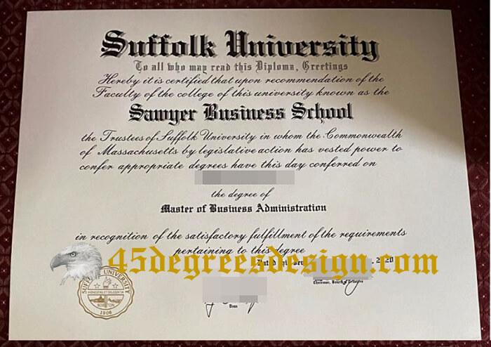Suffolk University diploma