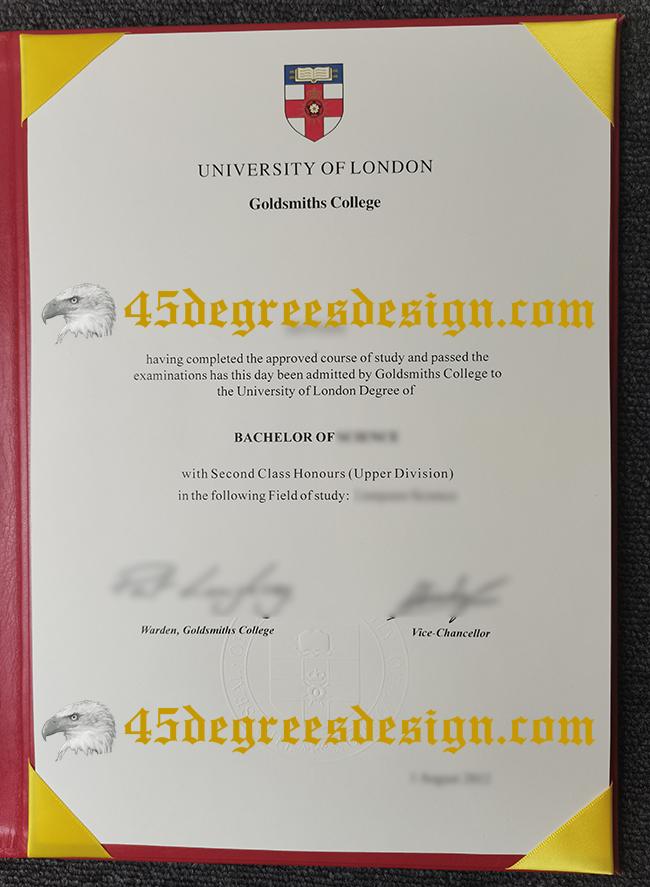Goldsmiths college degree