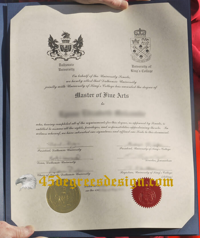 Dalhousie University jointly with University King's College fake degree