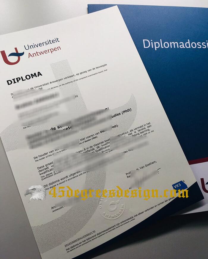 Universiteit Antwerpen diploma