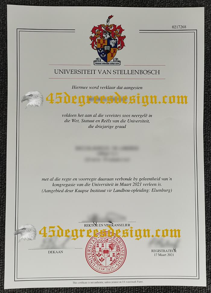 Universiteit van Stellenbosch diploma