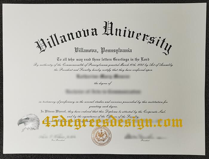 Villanova University diploma