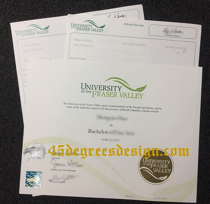 University of the Fraser Valley degree and transcript