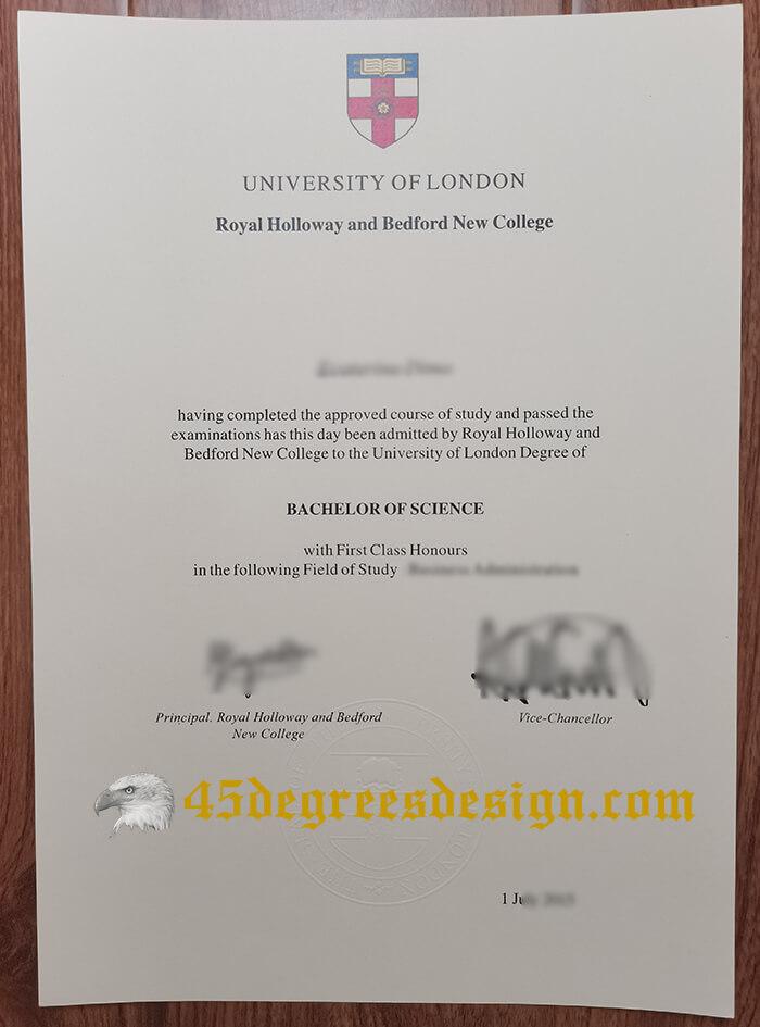 Royal Holloway and Bedford New College fake diploma