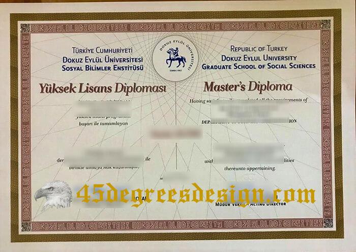 Dokuz Eylül University diploma