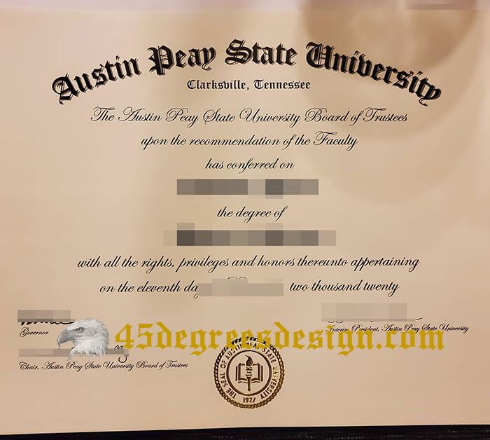 Austin Peay State University diploma