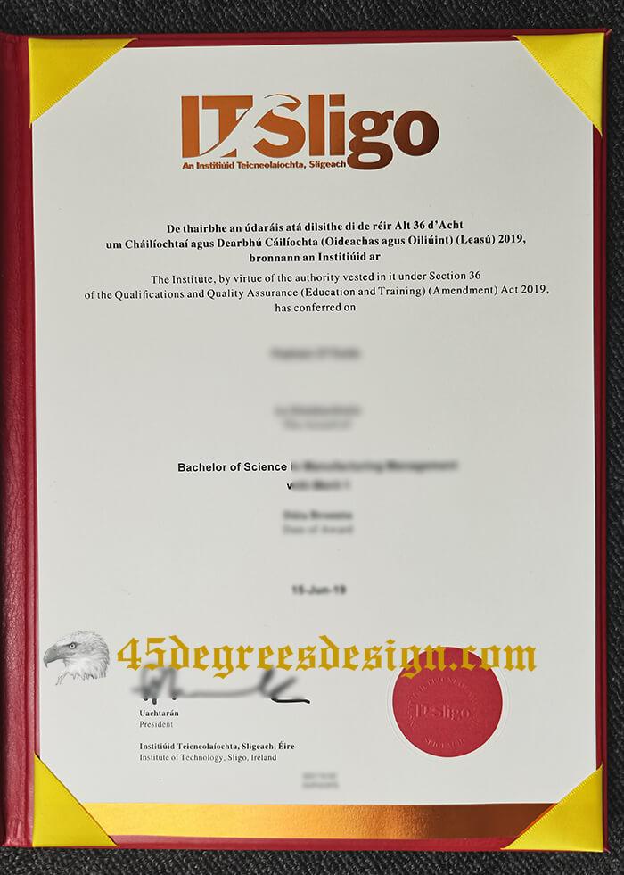 fake Institute of Technology, Sligo degree in Ireland
