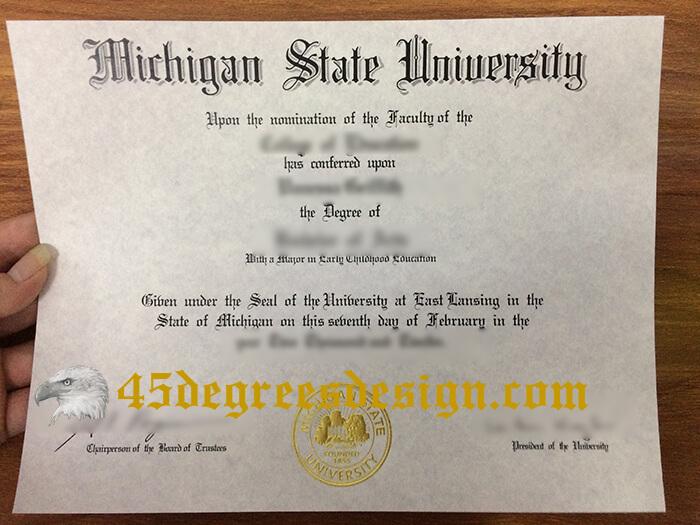 Michigan State University diploma