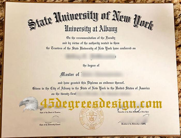 University at Albany diploma