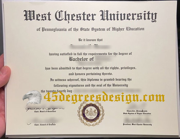 West Chester University diploma