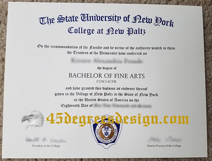 SUNY New Paltz diploma