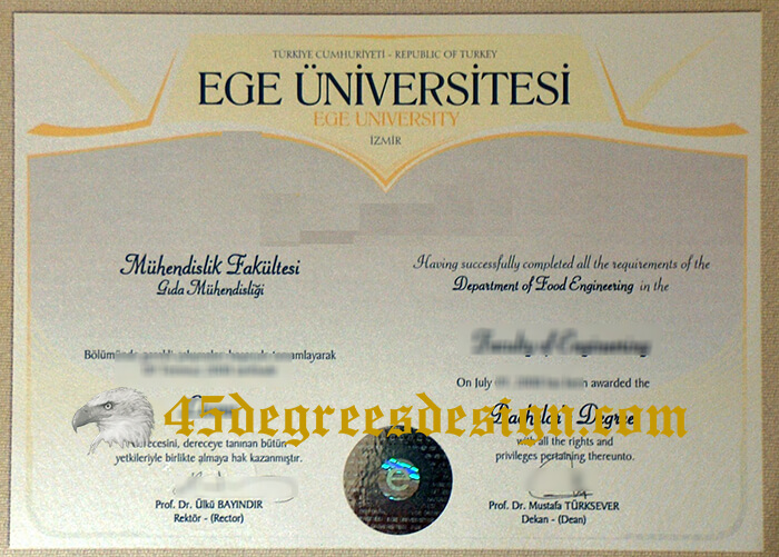 Ege University degree