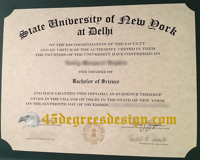 SUNY Delhi degree