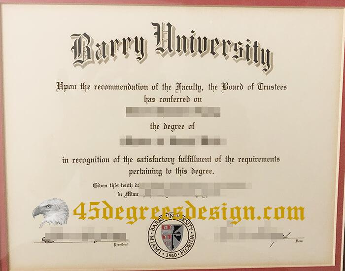 Barry University degree