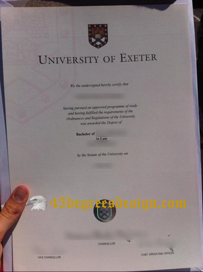 University of Exeter diploma