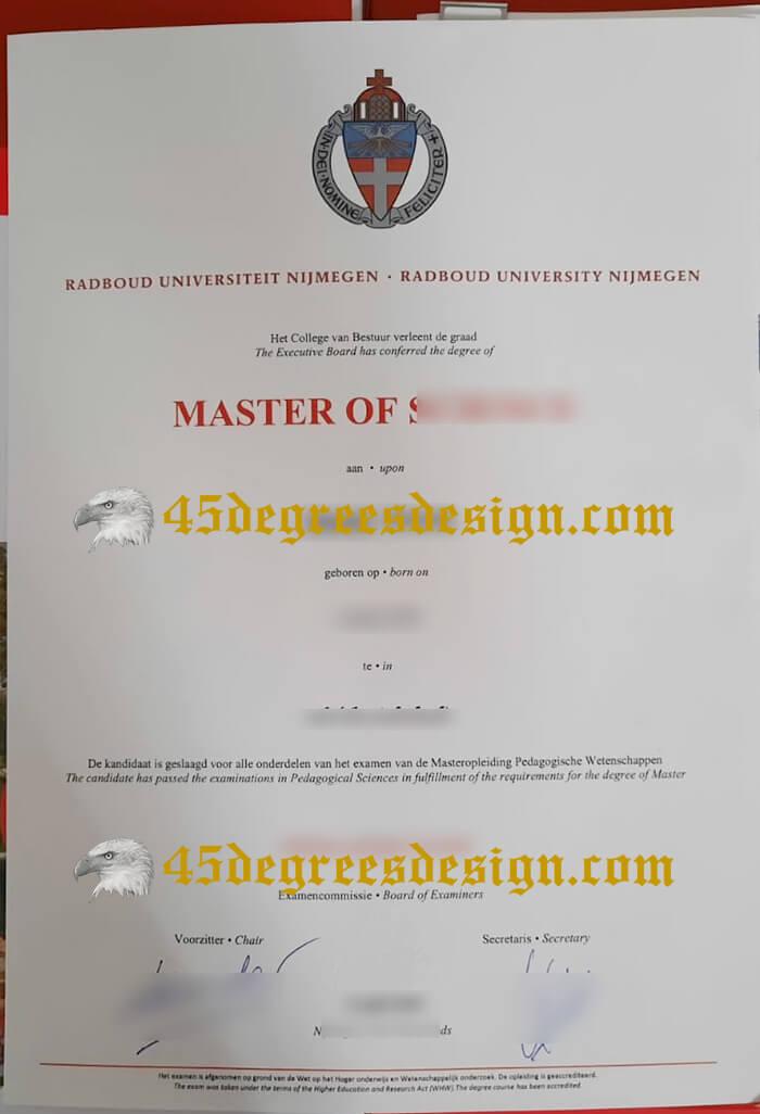 Radboud University Nijmegen Master degree