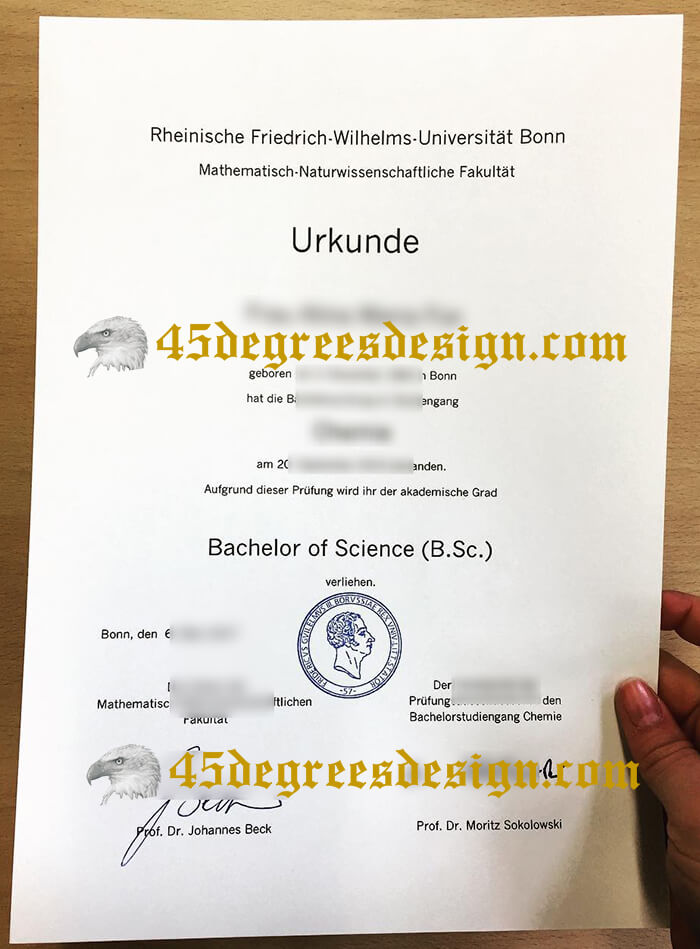 Rhenish Friedrich Wilhelm University of Bonn Fake Diploma