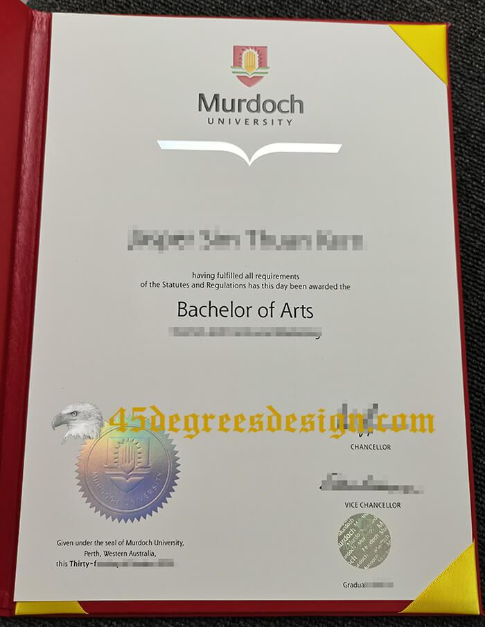 Murdoch University Bachelor of Arts Diploma