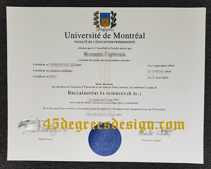 Université De Montréal Diploma